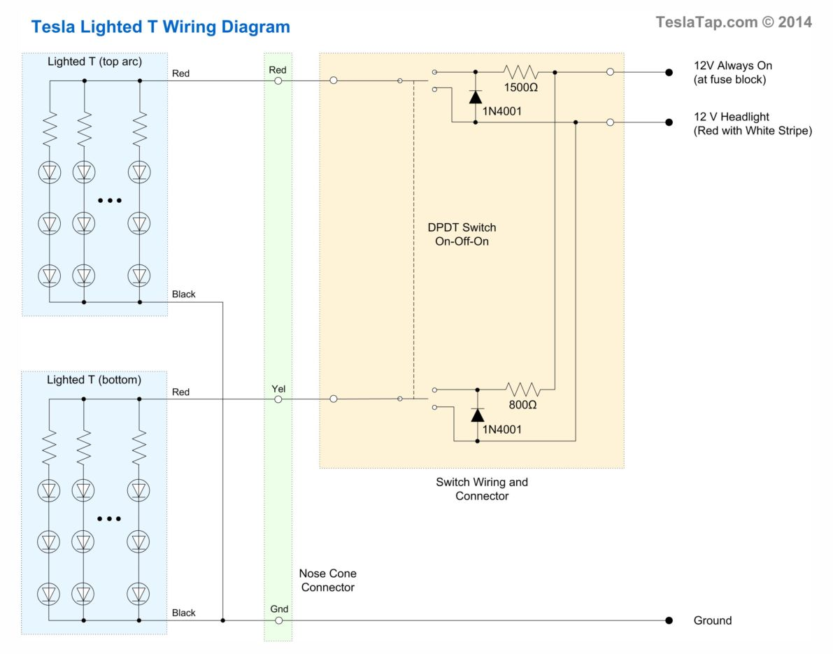 Lighted T Installation Instructions Teslatap Drl Wiring Option 3 Diagram With Switch Click For Larger View