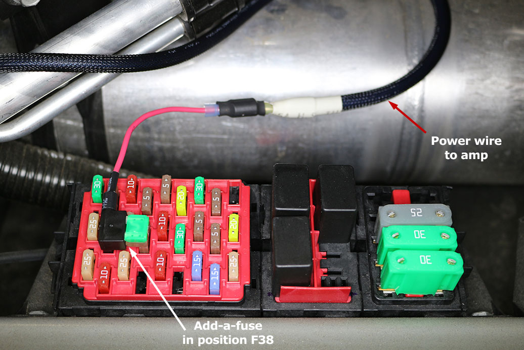 Fuse Box Connection : Part amplifier installation teslatap