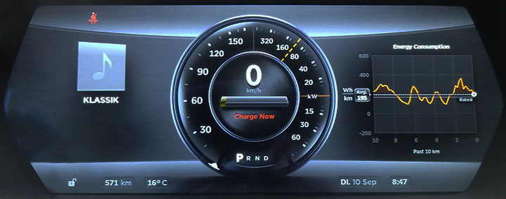 Version 4.5 Instrument Panel, limited power due to low battery SOC