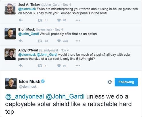 Elon tweet solar