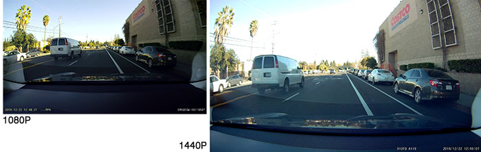 Dashcam Resolution