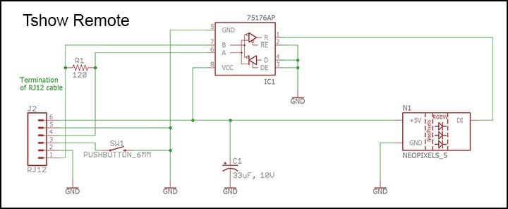Tshow remote schematic