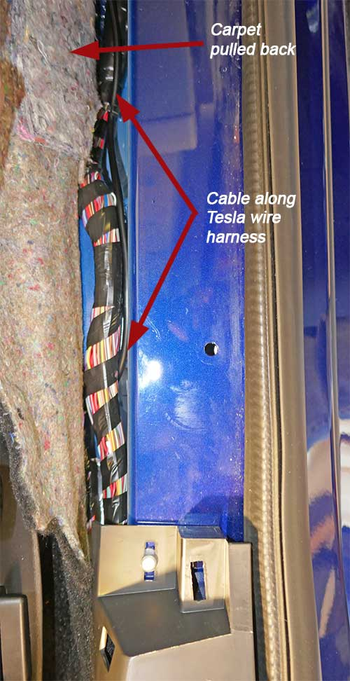 Routing wire along sill