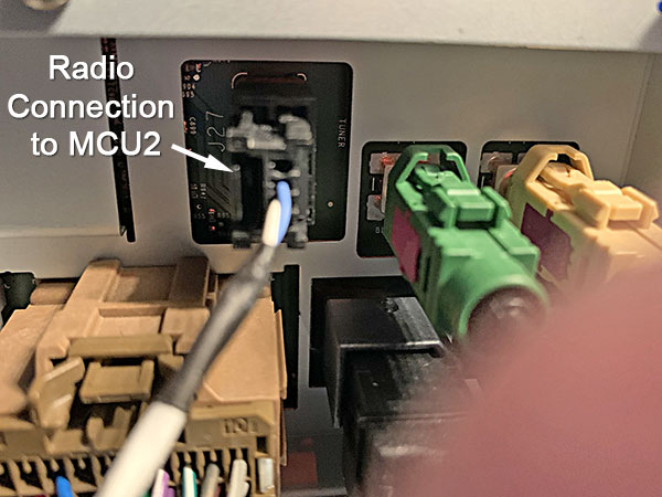 Radio connection to MCU2